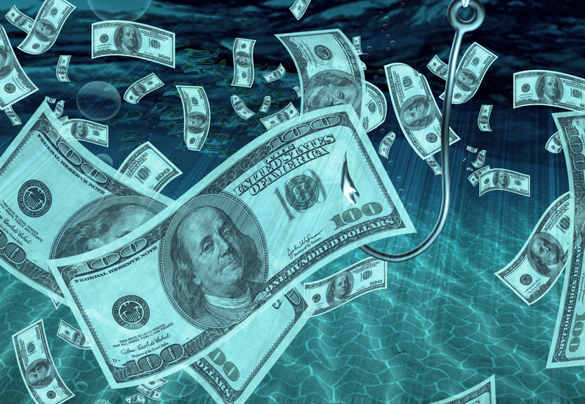 Scammers are fishing for your money for Fish for cash